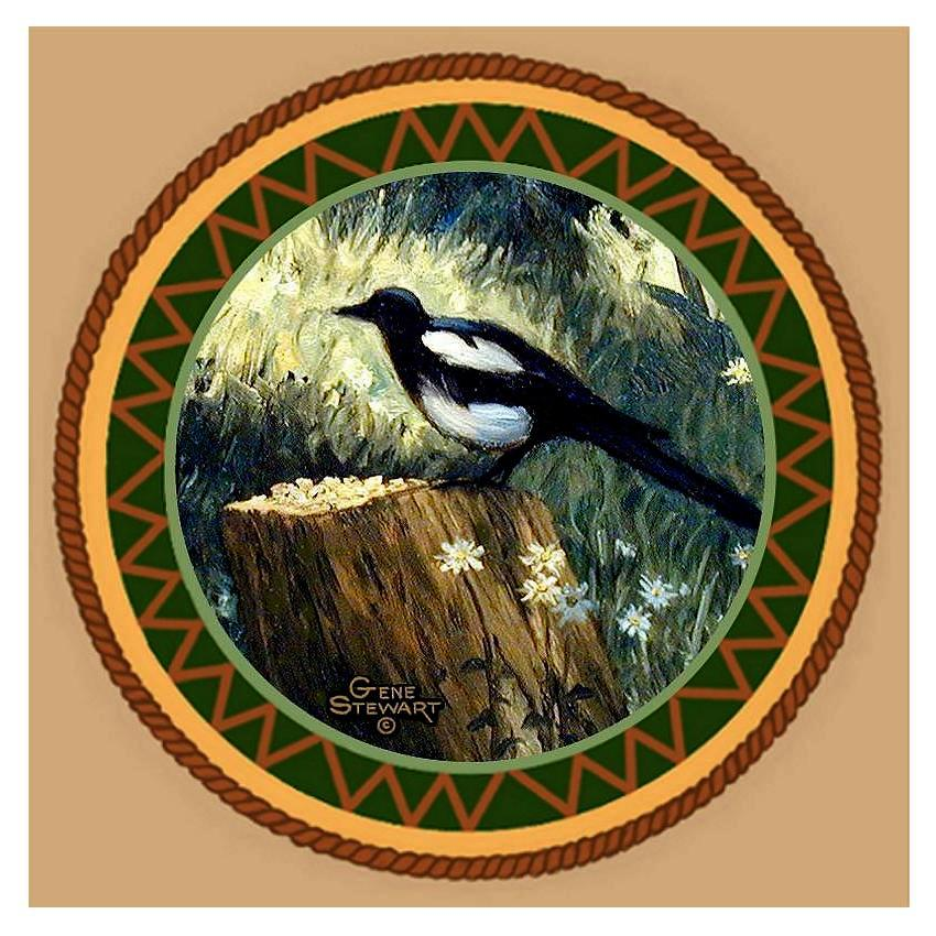 Magpie Coaster Tile