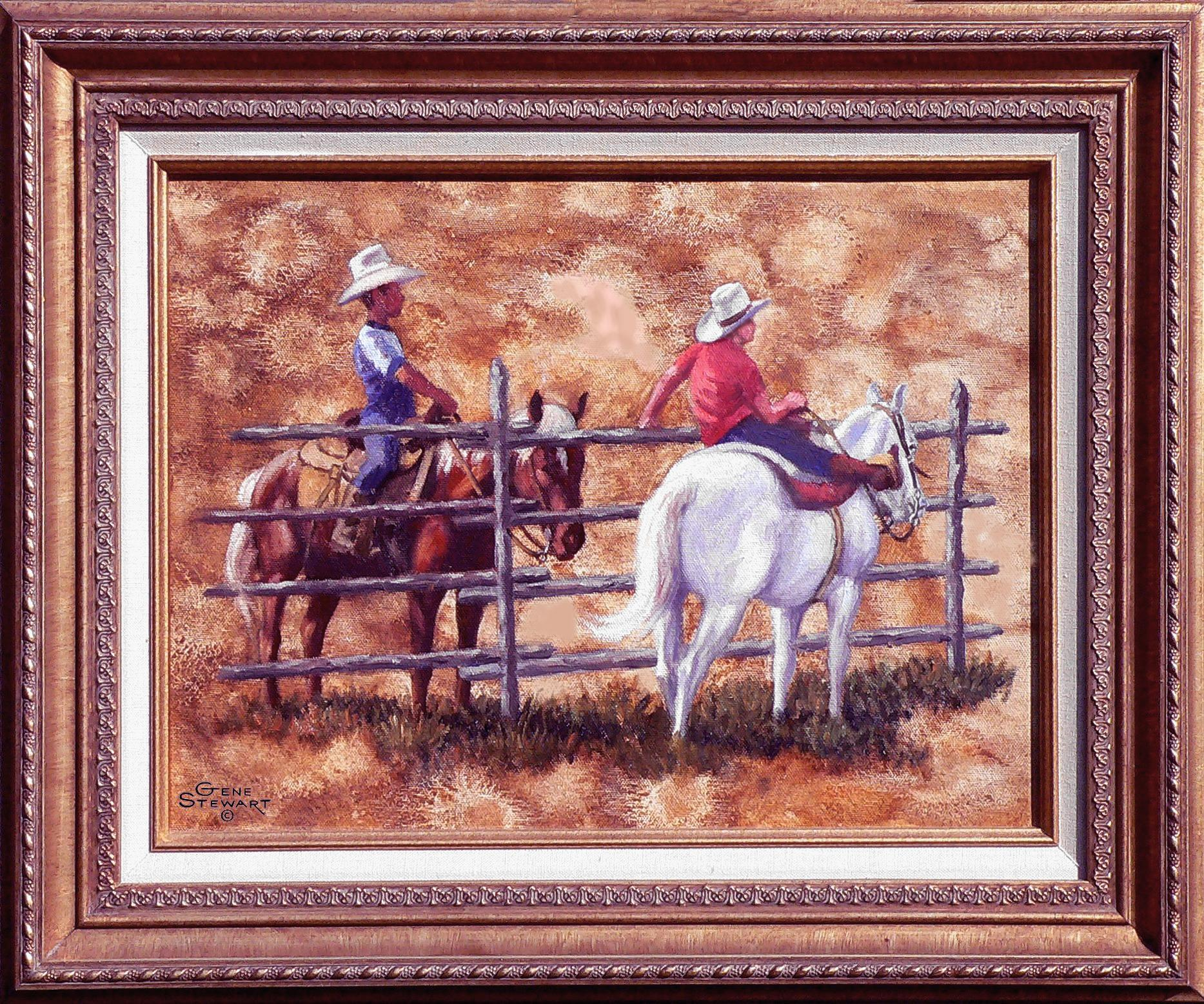 """Saddle Pals"" oil Painting"