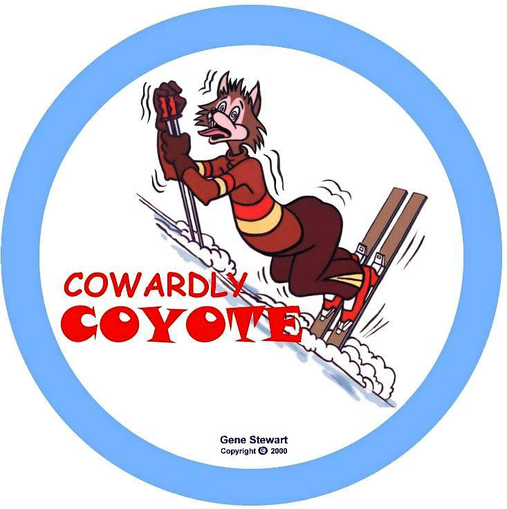 Cowardly Coyote T Shirt design