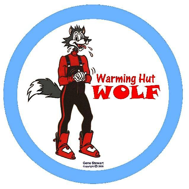 Warming Hut Wolf T Shirt design