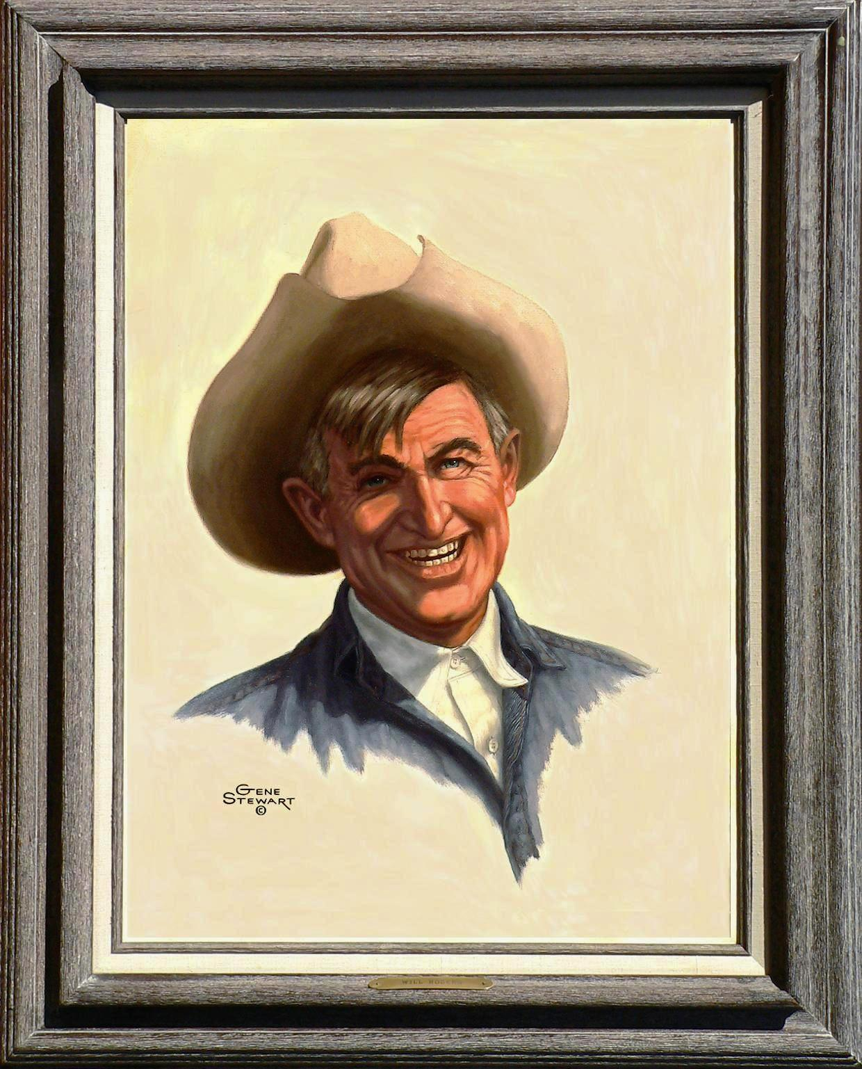 """Will Rogers"" Oils on canvas"