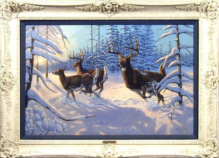 """Winter Glory"", oil painting"