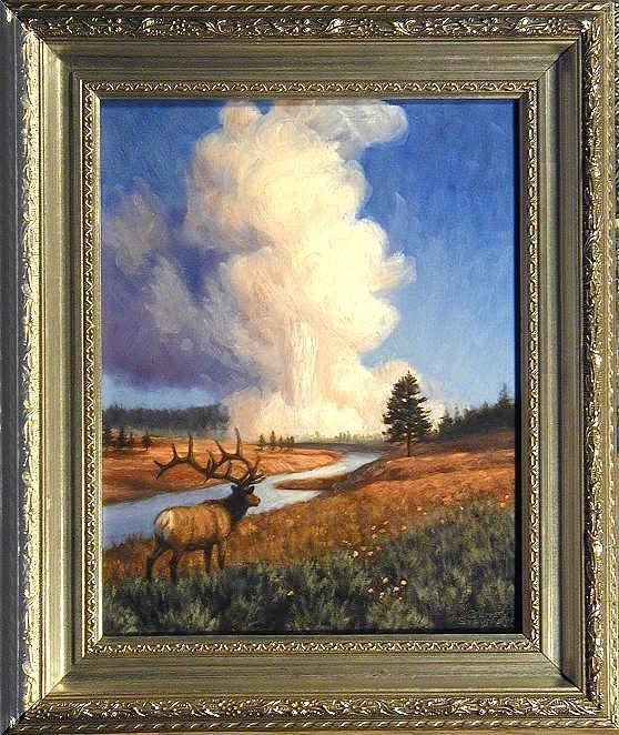 """Yellowstone Wonder"", oils on masonite"